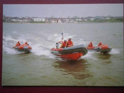 Postcard Southend On Sea All 3 Lifeboats In Action