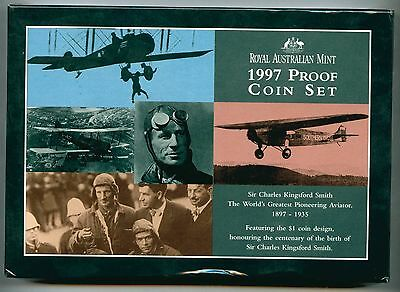 1997 Australia Proof Coin Set Sir Charles Kingsford Smith #59493 X