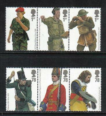 Great Britain 2007 British Army Uniforms--Attractive Topical (2508-13) MNH