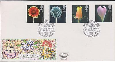 GB 1987 Flowers   First Day Cover SHS: Westminster