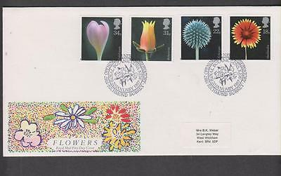 GB 1987 Flowers   First Day Cover SHS: Botanic Gardens Kew