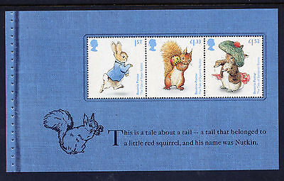 GB 2016 150th ANNIVERSARY of BEATRIX POTTER  BOOKLET PANE from DY19 Nutkin