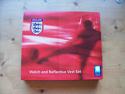 Quartz Watch/reflective Vest Gift Set - Official England Product - New - Rrp £17