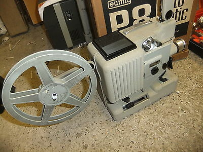 Cine film projector EUMIG P8 AUTOMATICl 8mm original tired box & CD INFO TCTCTC