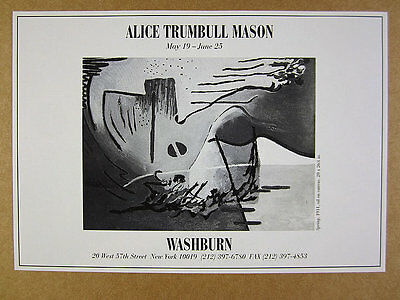 1999 Alice Trumbull Mason 'Spring, 1931' painting NYC gallery vintage print Ad