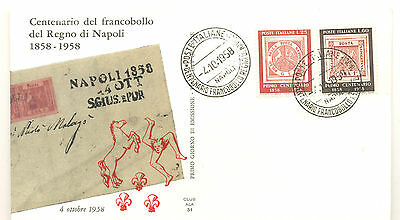 Italy fine unaddressed first day cover for the centenary of stamps for Naples