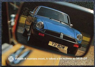 MG MGB GT Sports Car Sales Brochure Sept 1976 #3211
