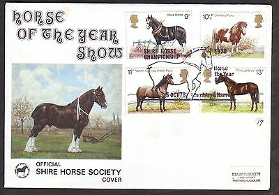 1979 Horse Of The Year Show - Shire Horse Society Handstamp 5 Oct 1978