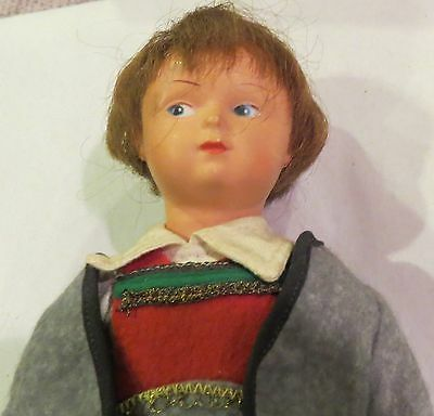 """Vintage 9"""" German Celluloid Jointed Character All Original Doll Perfect"""