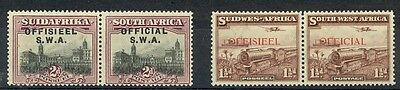 South West Africa Scott O12g, O17 Mint hinged (Catalog Value $58.60)