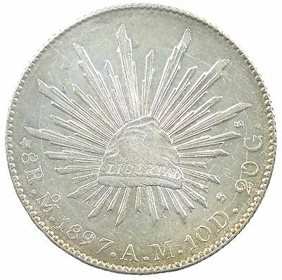 1897 AM Mexico 8 Reales *8515