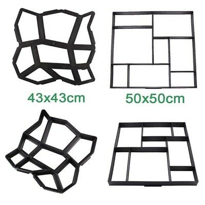 8 9 Grids Paving Brick Mould Concrete Stepping Stone Road Mold Garden Decoration