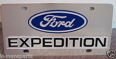 Ford Expedition stainless steel vanity license plate tag Black