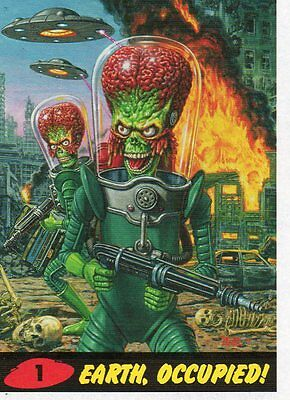 Mars Attacks! Occupation - Lot Of 33 Different Heritage Parallel Cards NM Topps