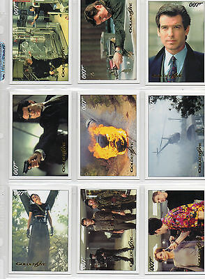 James Bond Archives 2015 - Lot Of 10 Goldeneye Gold Parallel Cards NM