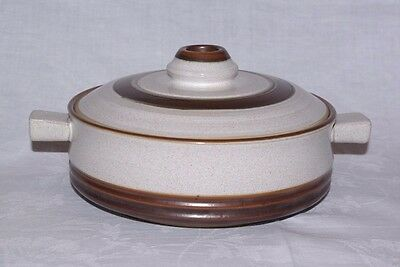 Denby Potters Wheel Round Casserole Tureen Serving Dish Rust Red Retro Bowl