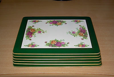 Royal Albert Old Country Roses Vintage English Table mats & coasters Serving set