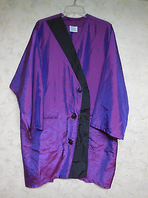 Andre Hairdresser/Spa Smock Iridescent Purple, Button Front, Pocketed