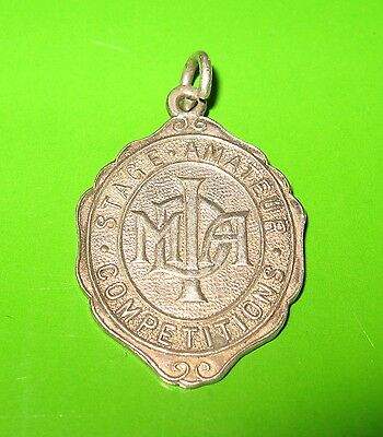 Solid Sterling Silver Fob Medal For Albert Chain Dance Related Birmingham 1948