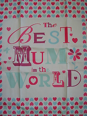 best mum in the world tea towel  ,mothers day,birthday,christmas gift