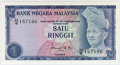 MALAYSIA 1976 ISSUE 1 RINGGIT NICE NOTE UNC.PICK#13a.