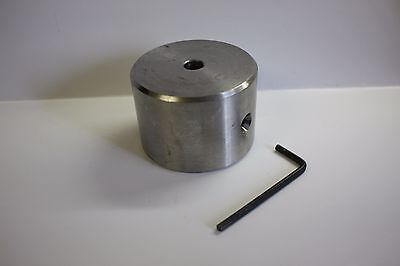 "2 Pound 7 Oz Stainless Steel Telescope Counterweight 5/16"" diameter bore hole"