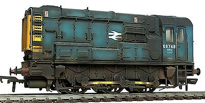 Bachmann Faded BR Blue Shunter Class 08 748 *PRO WEATHERED LOOK* DCC Fitted