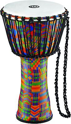 Meinl Rope Tuned Djembe with Synthetic Shell and Head 10 in. Kenyan Quilt