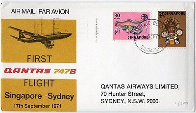 Singapore  1971  First Flight Cover