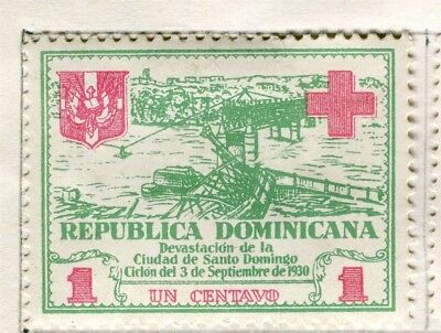 DOMINICA;  1930 early Red Cross issue fine Mint hinged 1c. value