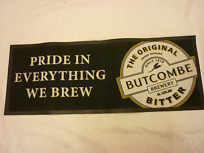 Butcombe Original Bitter Ale Large Bar Towel /  Runner Rubber Backed Mancave