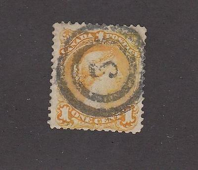 CANADA # 23 VF1ct LARGE QUEEN WITH 2 RING # 5 HAMILTON CANCEL CAT VALUE $100++