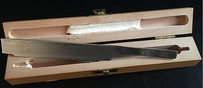 Rocking Microtome Knife in Wood Case