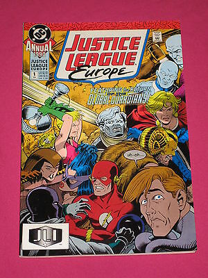 Justice League Europe Annual #1 DC Comics 1990, Flash, Power Girl, Elongated Man