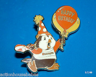 Hooters Happy Birthday Hootie Balloon Party Time Lapel Pin