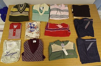 12 x  VINTAGE 1970 UNWORN CHILDREN'S ASSORTED ITEMS OF CLOTHING ASST SIZES (P19)