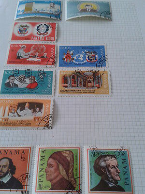 11 PANAMA STAMPS, INCLUDES 2 KENNEDY + 5 POPE STAMPS 1960s.