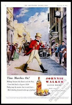 1947 Johnnie Walker Scotch Whisky London Clive Uptton art vintage print ad