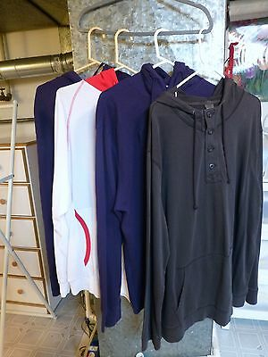 Lot Of 4 Pre~Owned Men's Pullover Hooded Shirts ~ Size Xxl