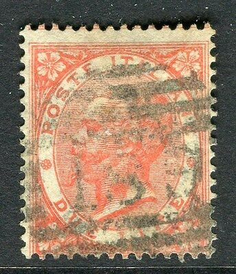 ITALY;  1863 early classic Victor issue fine used 2L. value