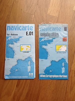 2 X FRENCH NAVICARTES- E.01 (1989) and i01 (1985) - Water Resistant