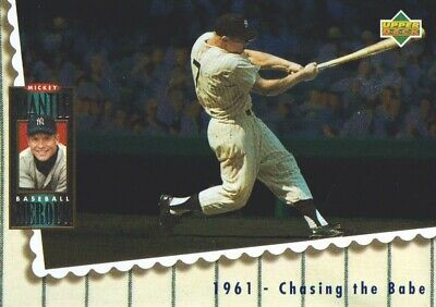 1994 Upper Deck Baseball Mickey Mantle Heroes #68 1961 Chasing the Babe
