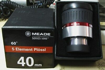 "Meade 2"" Inch 40mm Plossl Telescope eyepiece 5000 series Model # 07656"