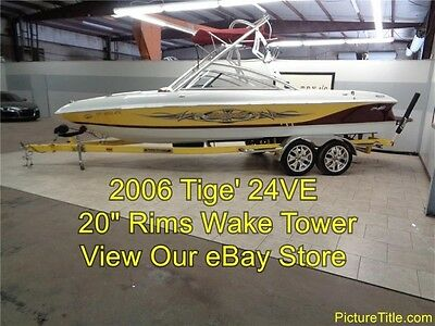 2006 Tige 24VE 24' Wakeboard boat Tower and Trailer 20 rims 5.7 Vortec 340 HP