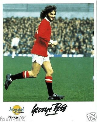 GEORGE BEST Signed Photograph - Manchester United & N Ireland - Preprint