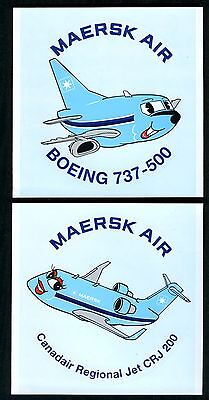 Maersk Air three stickers airline issue brand new