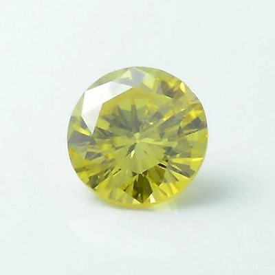 Enhanced Yellow Loose Diamond Natural 0.22 CT VS2 DGI Certified Round Enhanced
