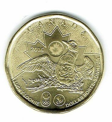 2016 Canadian Commemorative Brilliant Uncirculated Lucky Loonie $1 Coin!
