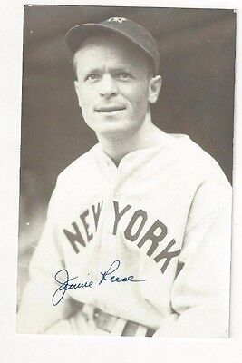 Jimmie Reese New York Yankees Baseball Autographed Jim Rowe Postcard Photo