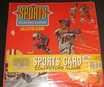 1990 Sports Trading Cards Collector Album NEW Baseball Football Hockey Storage